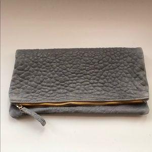 [Clare Vivier] Leather clutch Foldover mustard zip